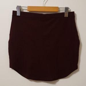 Plum Mini Skirt